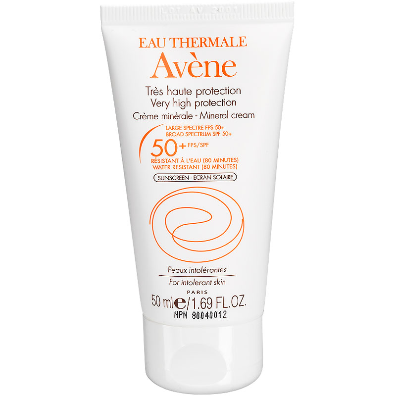 Avene Mineral Cream for Intolerant Skin - SPF 50 - 50ml