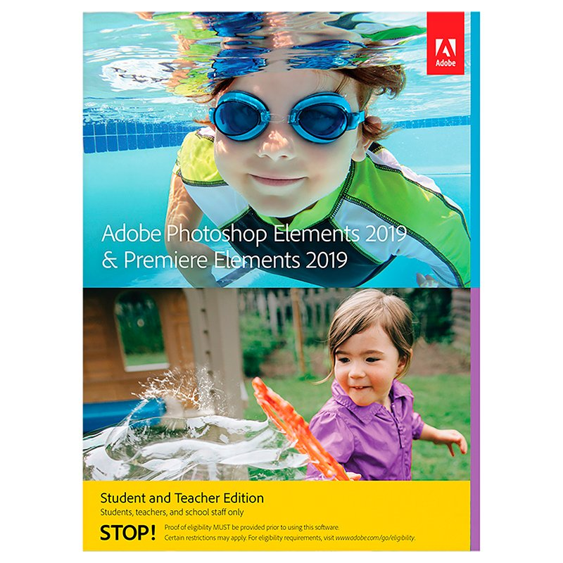 Adobe Photoshop and Premier Elements Version 2019 - Student Teacher Edition - Windows/Mac - ONLINE ONLY - 65292240