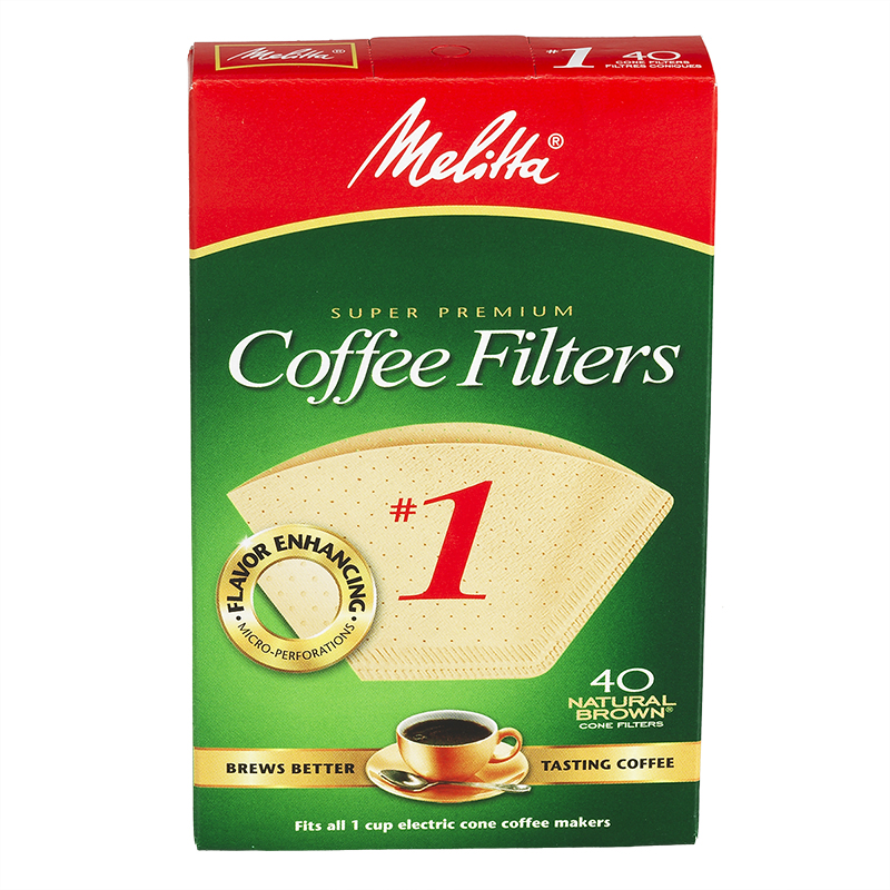 Melitta Coffee Filters - No.1 - Natural Brown - 40's
