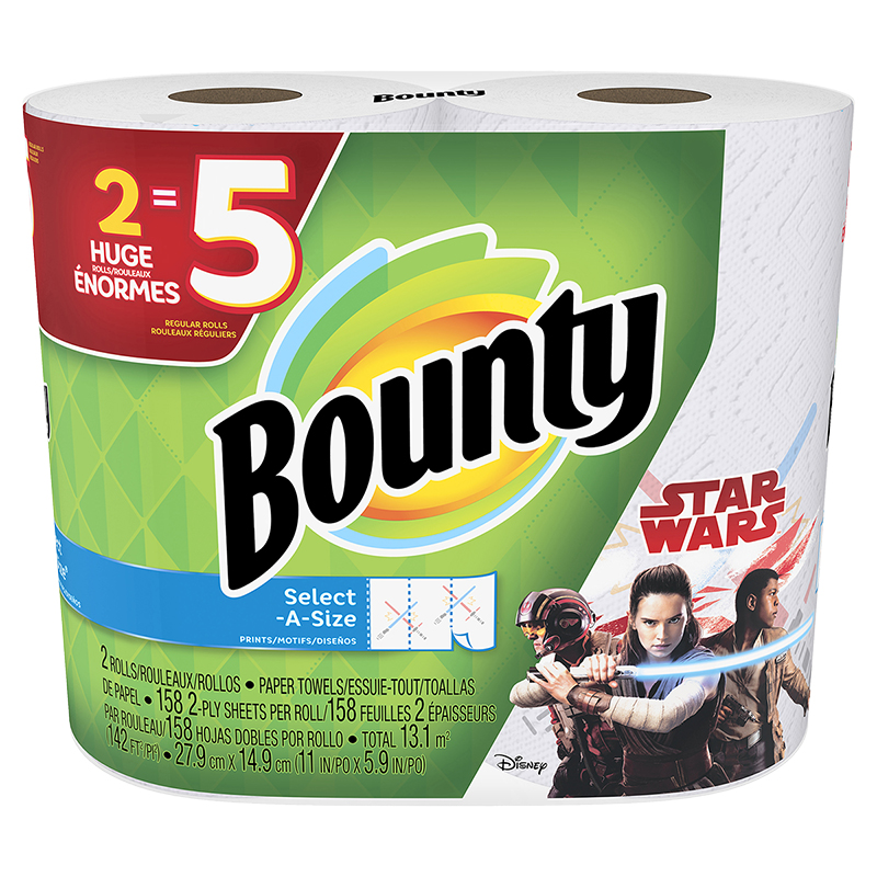 Bounty Paper Towels Select-A-Size - Star Wars - 2 rolls