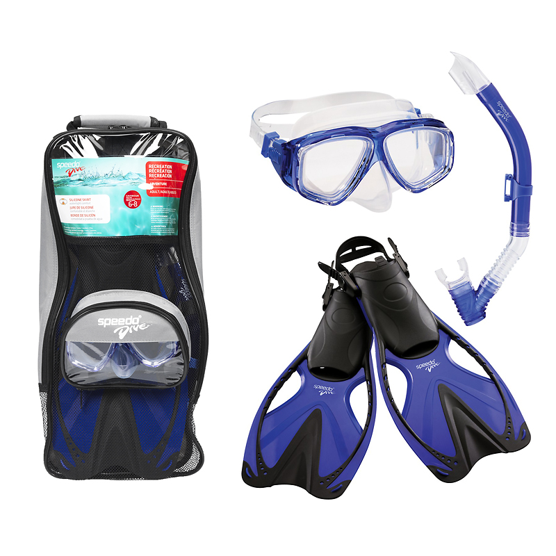 Speedo Mask, Snorkel & Fin Set - Assorted