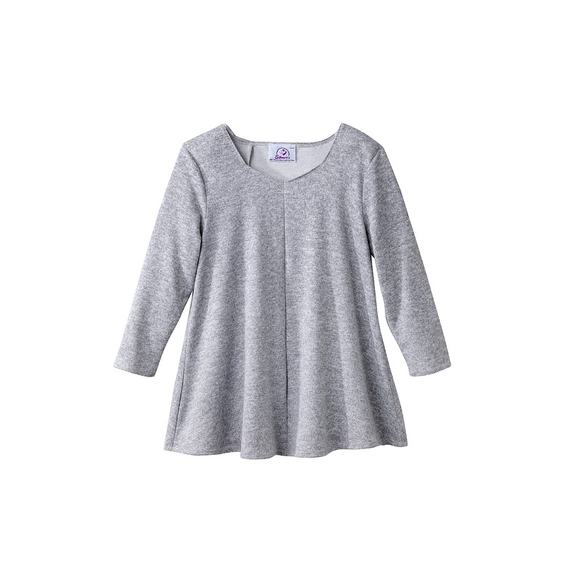 Silvert's Diamond Neck Open Back Sweater - Grey - 2XL