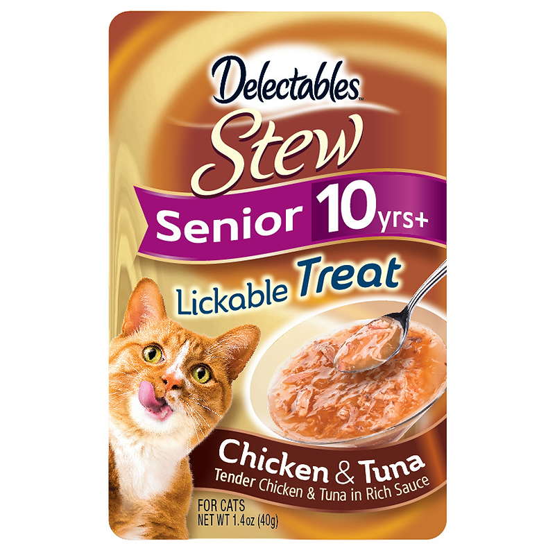 Delectables Stew Seniors Lickable Treat - Chicken and Tuna - 40g