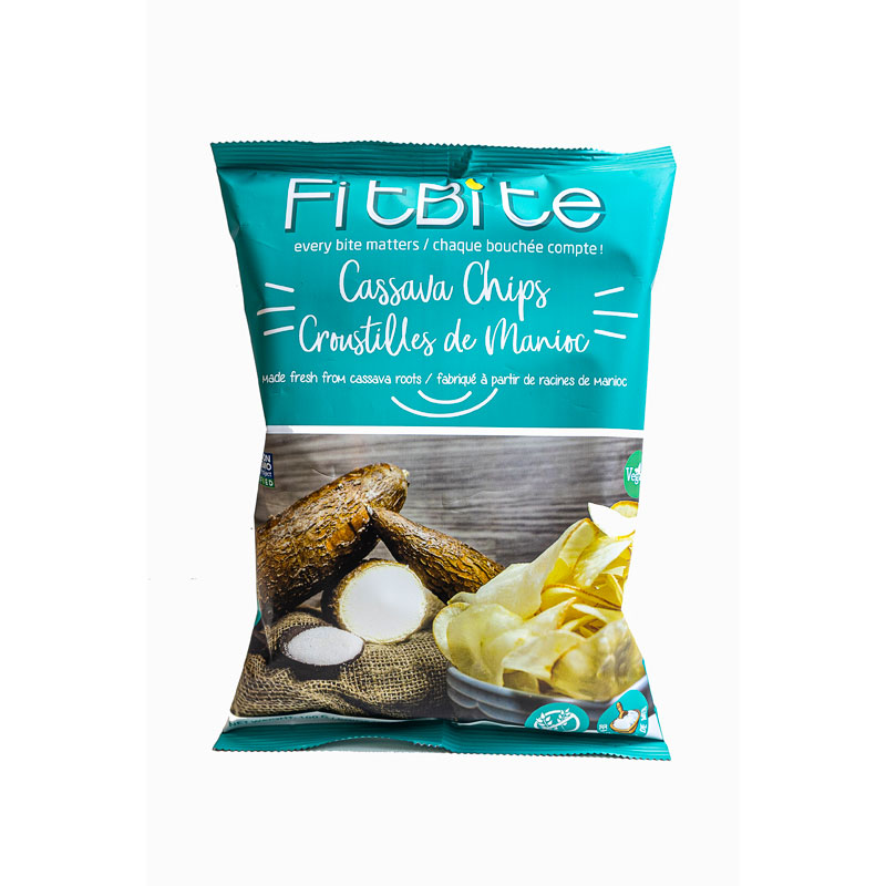 FitBite Fresh Cassava Chips - Sea Salt - 100g