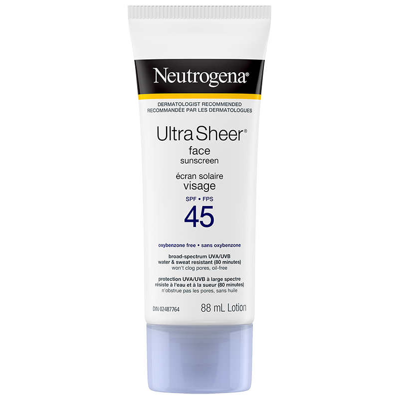 Neutrogena Ultra Sheer Face Sunscreen Lotion - SPF 45 - 88ml