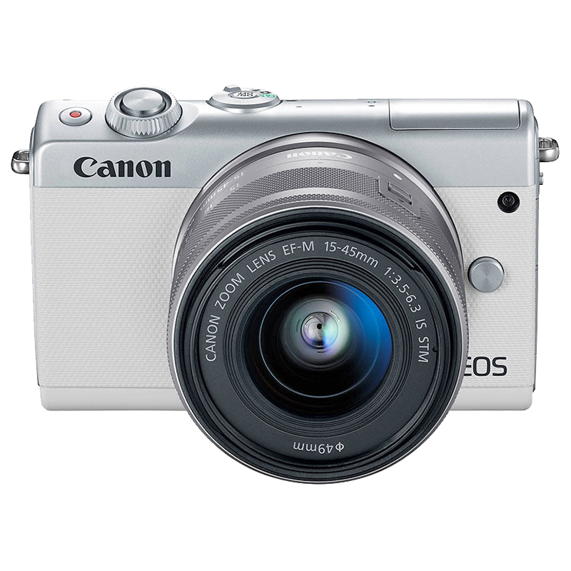 Canon EOS M100 EF-M 15-45mm IS STM Kit - White - 2210C011