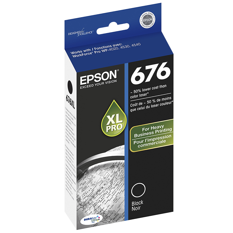 Epson Durabrite Ultra Ink T676XL Ink Cartridge - Black - T676XL120-S