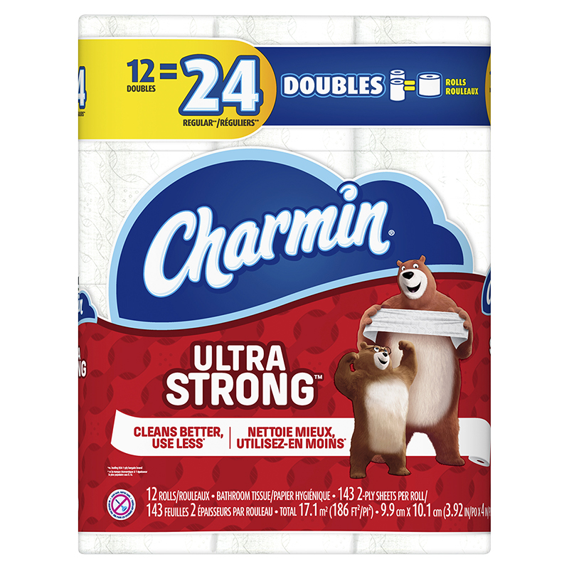 Charmin Ultra Strong Bathroom Tissue Doubles Roll - 12's