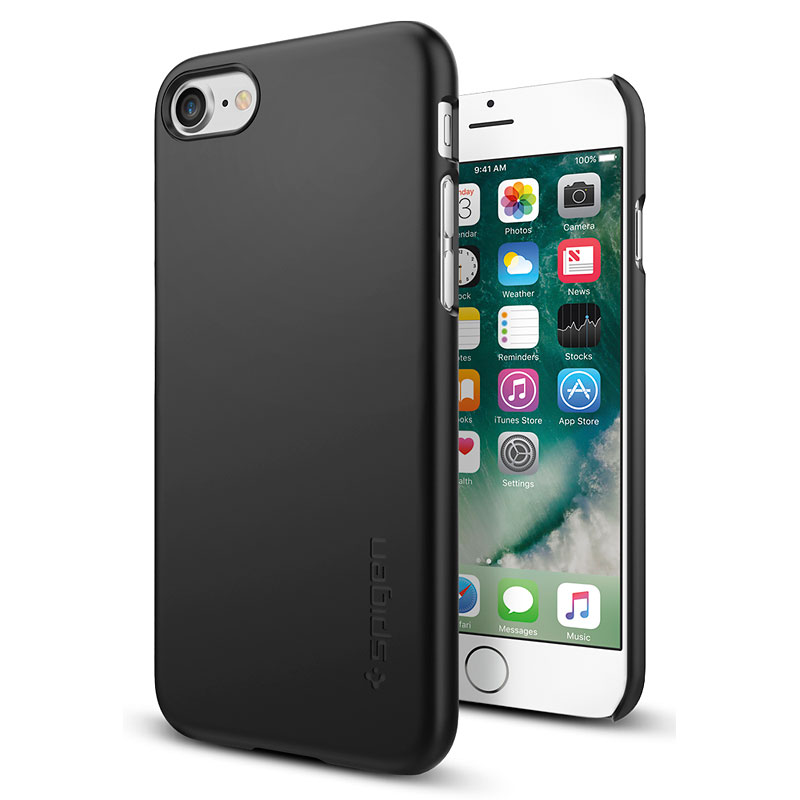 buy online 4eef4 5af1c Spigen Thin Fit Case for iPhone 7 - Black - SGP042CS20427