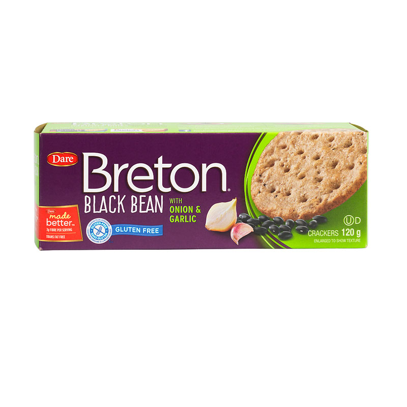 Breton Black Bean Gluten Free Crackers - Onion & Garlic - 120g