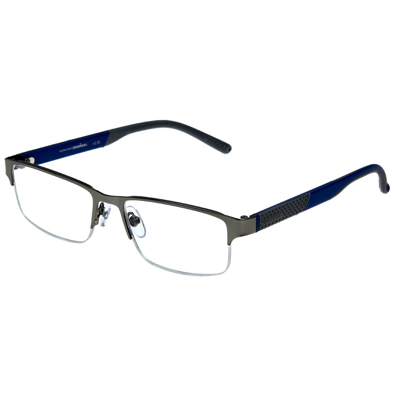 Foster Grant IM 1001 Men's Reading Glasses - Gunmetal - 1.50