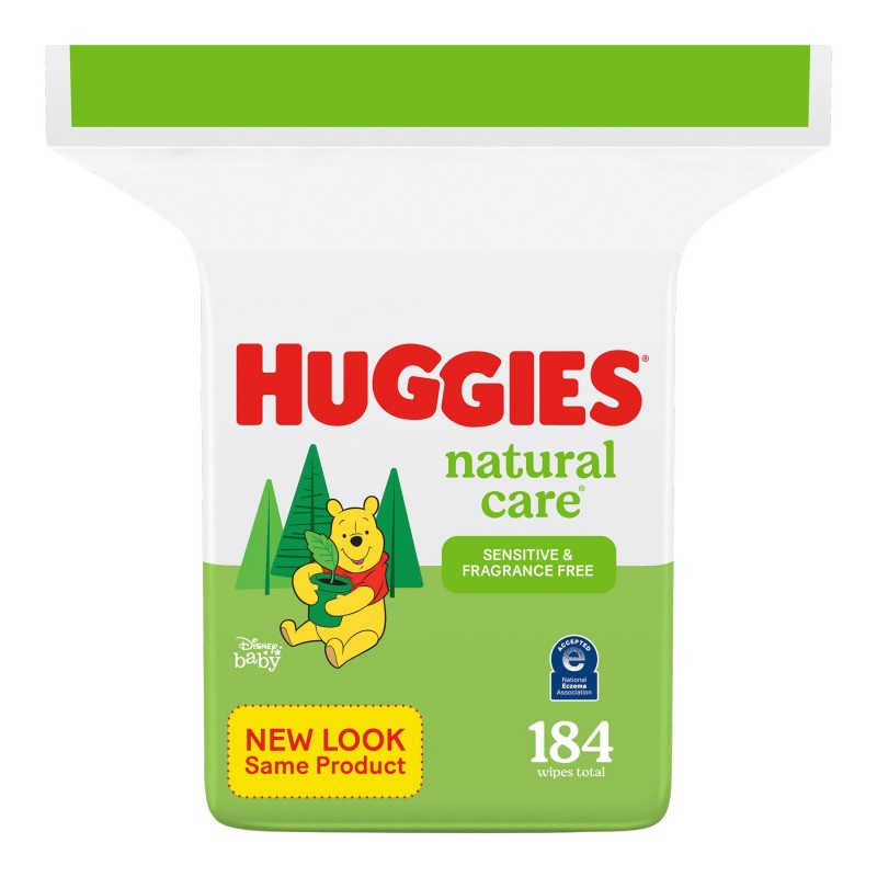 Huggies Natural Care Wipes - Refills - 184's