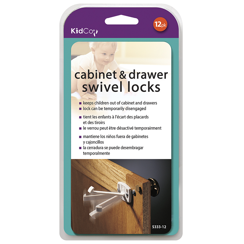 KidCo Cabinet and Drawer Swivel Locks - 12 pack - S333-12