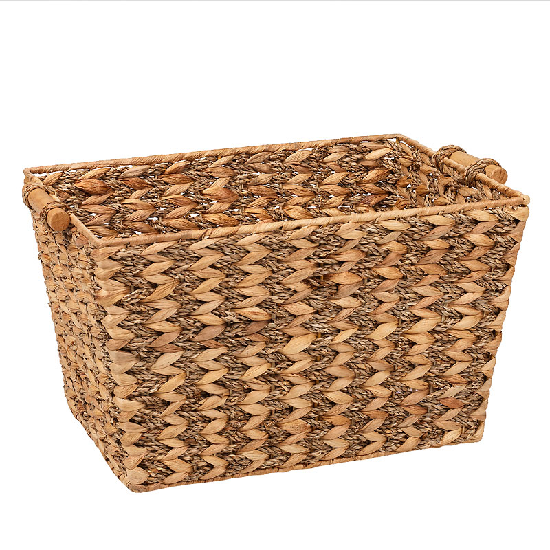 London Drugs Water Hyacinth Seagrass Basket with Wood Handles