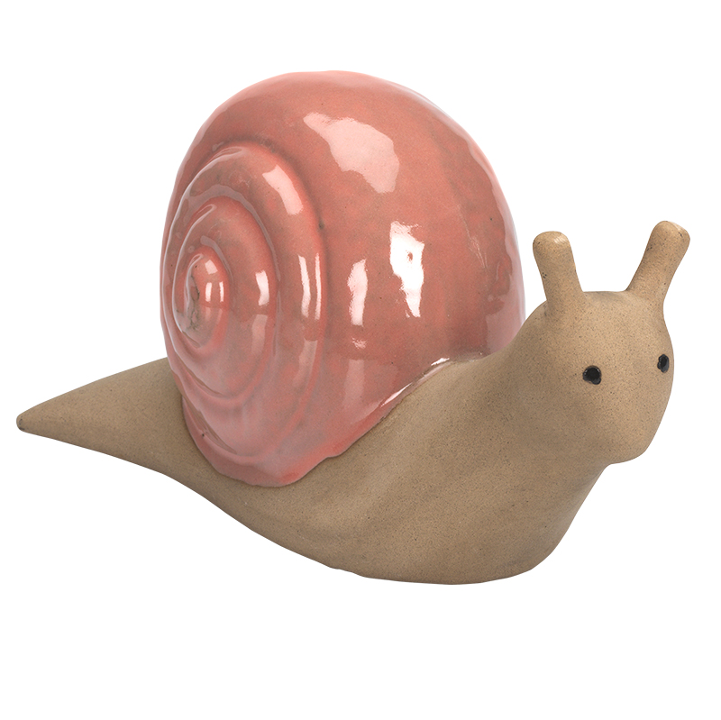 Fontina Ceramic Garden Snail - Small - Assorted