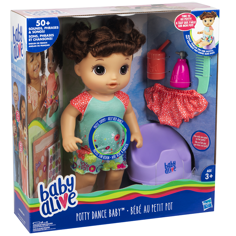 Baby Alive Potty Dance - Brunette