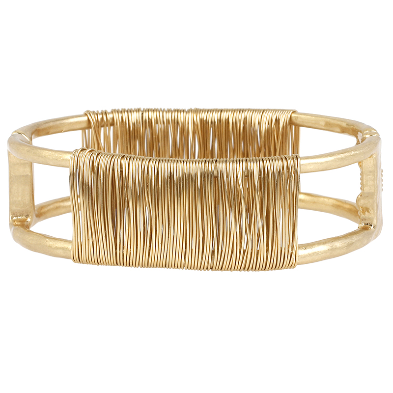 Robert Lee Morris Wire Wrapped Bangle - Bronze/Gold Plated