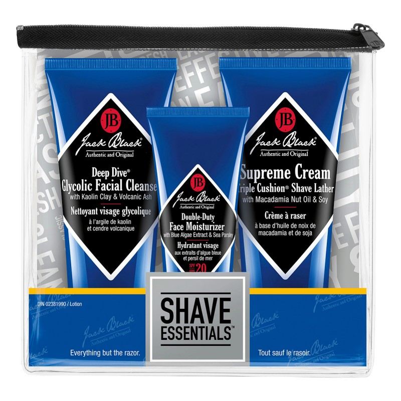 Jack Black Shave Essentials Kit - 3 piece