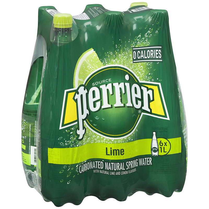 Perrier Sparkling Water Case - Lime - 6 x 1L