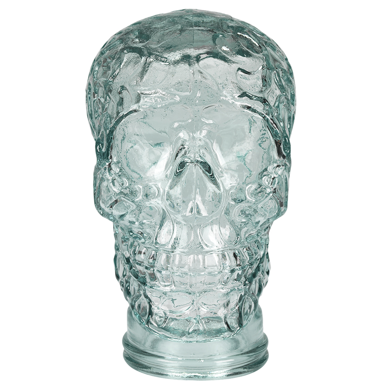 London Drugs Green Glass Skull - 26cm