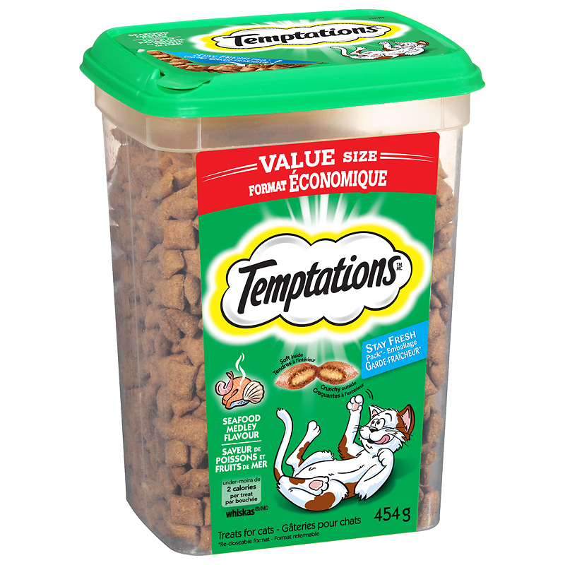 Whiskas Temptations Cat Treats - Seafood Medley - 454g