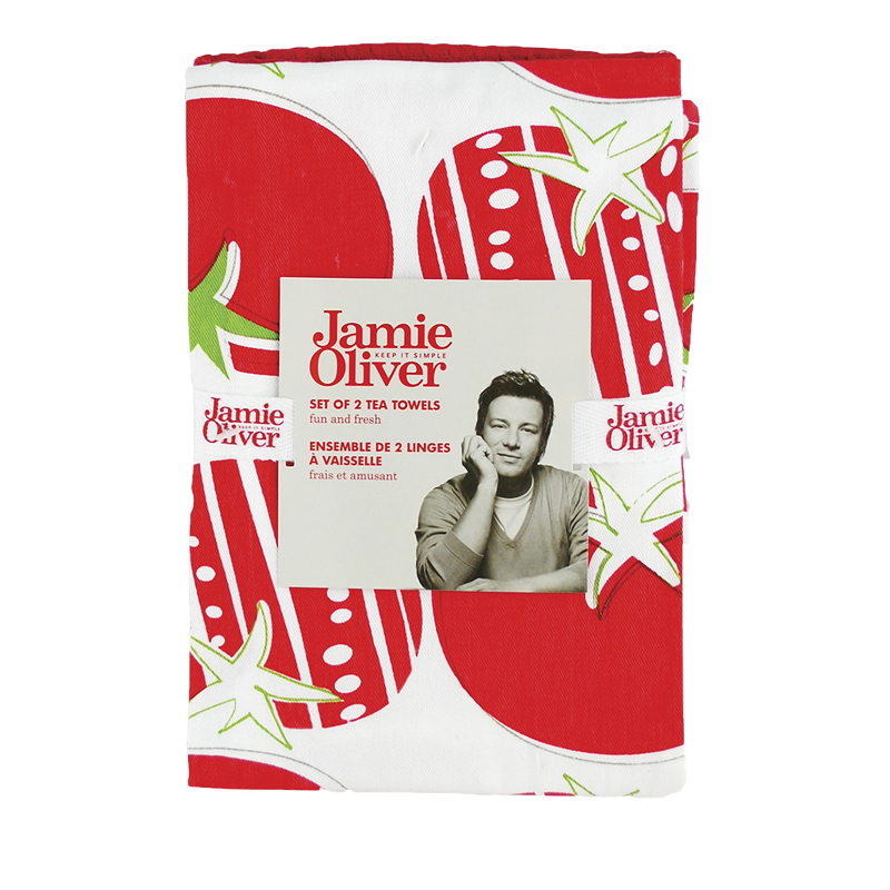 Jamie Oliver Tea Towels - Berry - 2 pack