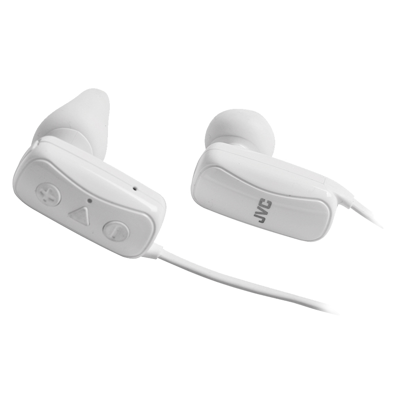 JVC Gumy Wireless Bluetooth Headphone - White - HAF250BTW