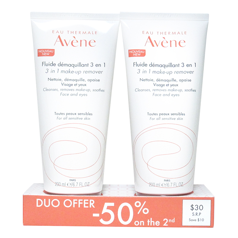 Avene Duo 3-in-1 Makeup Remover - 2x200ml