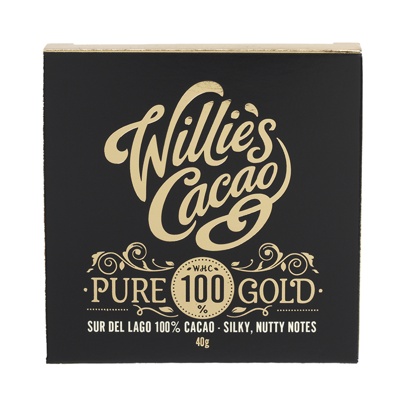 Willie's Cacao Chocolate Bar - Pure 100% Gold - 40g