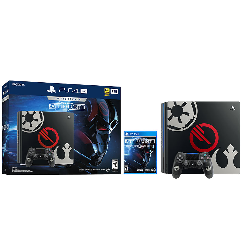 PS4 Pro 1TB Hardware Bundle - Star Wars Battlefront 2 LE - CUH-7115B