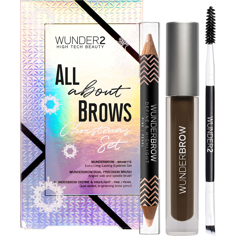Wunder2 Wunderbrow All About Brows Christmas Set - Black/Brown