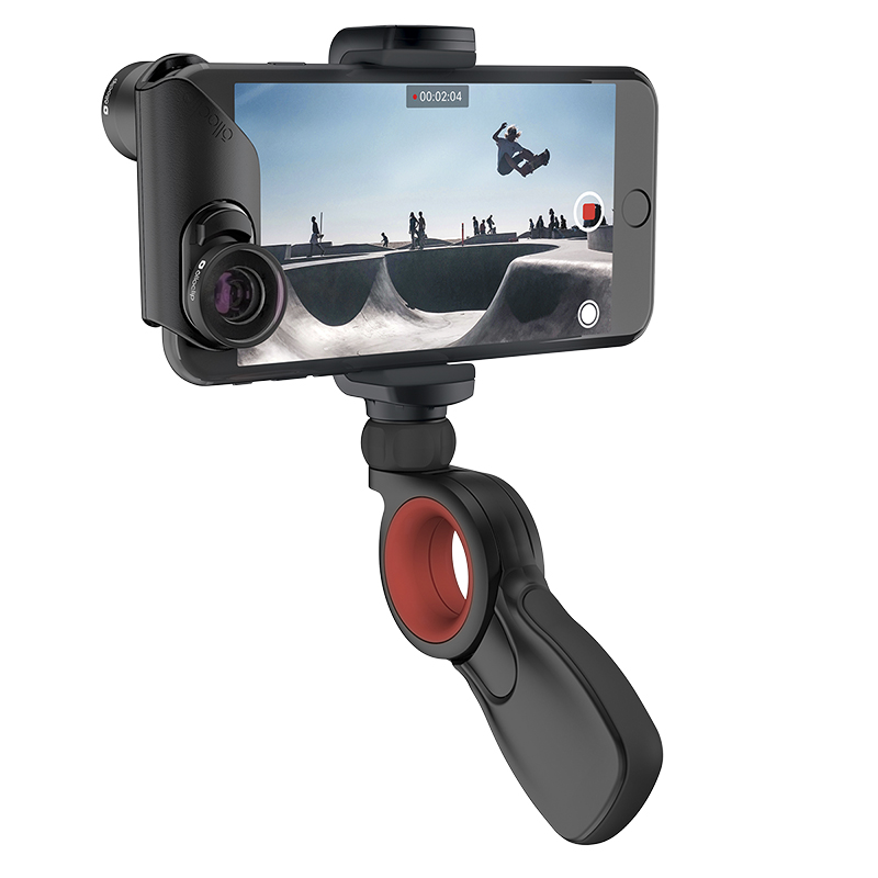 Olloclip Filmer's Kit for iPhone 7/8 and 7/8 Plus - Black/Red - OC0000249EU