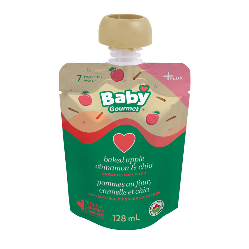 Baby Gourmet Baby Food - Baked Apple, Cinnamon and Chia - 128ml