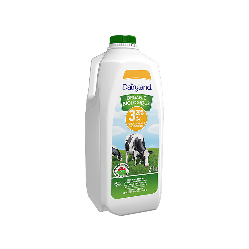 Dairyland 3.25% Homogenized Organic Milk - 2L