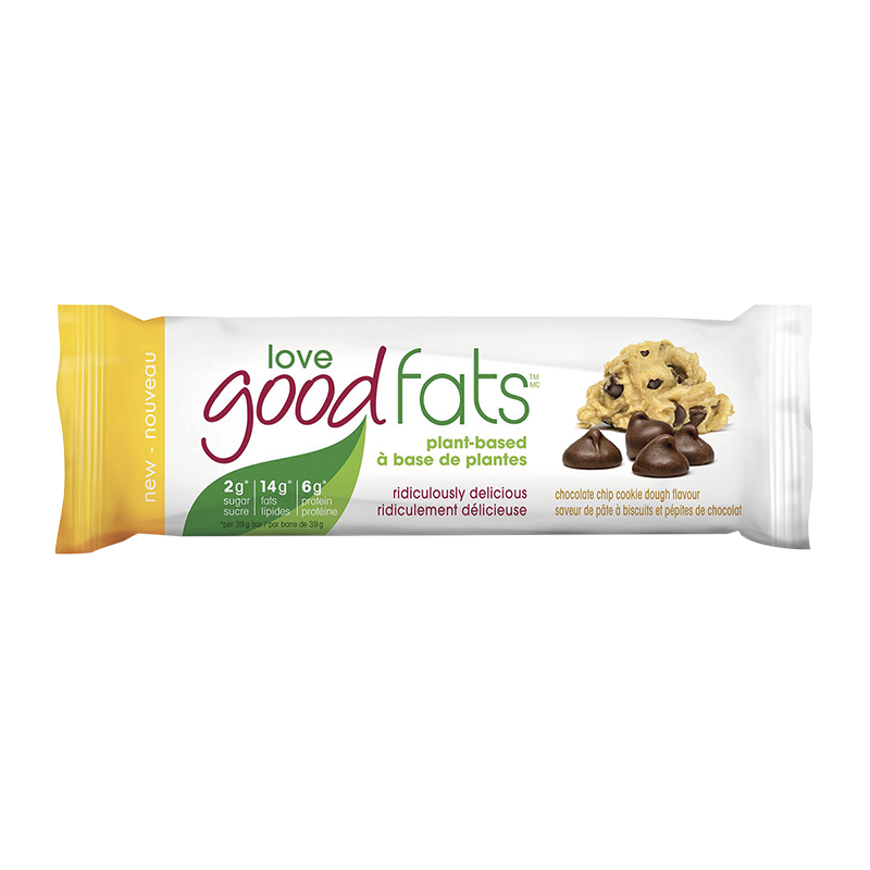 Love Good Fats Plant Based Bar - Chocolate Cookie Dough - 39g