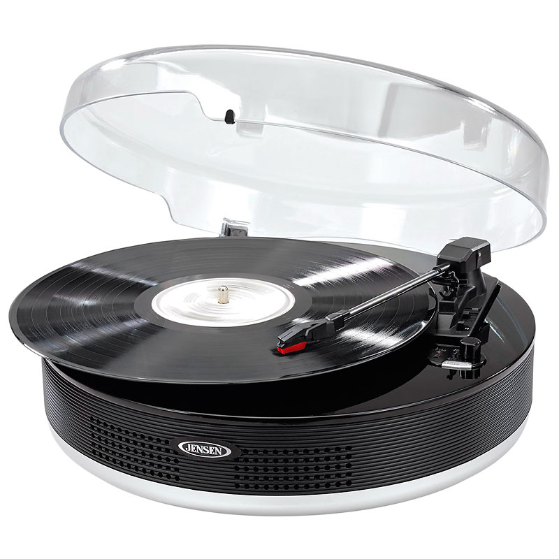 Jensen Bluetooth USB Turntable - Black - JTA455