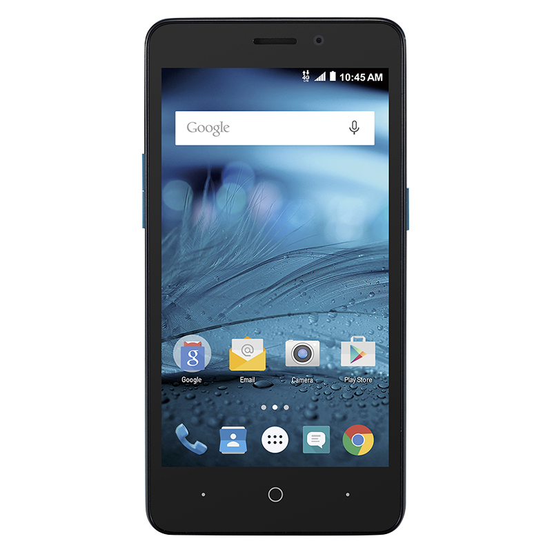 Chatr ZTE Z828 - Black - In-Store Activation - PKG #32650