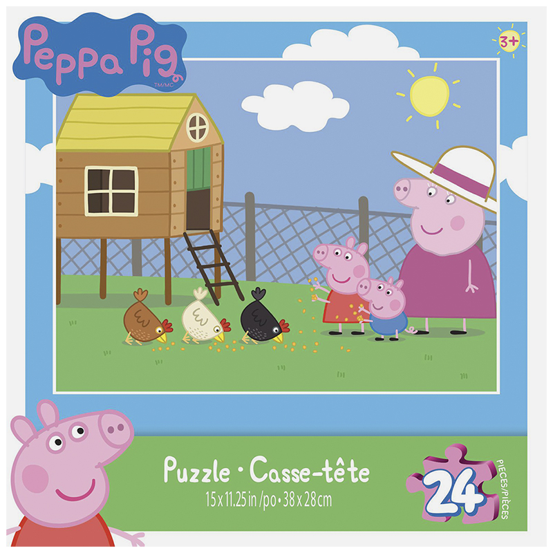 Peppa Pig Puzzle - Assorted -24/48 piece