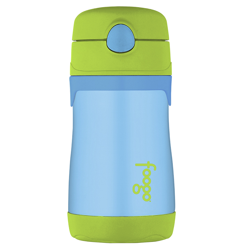 Thermos Foogo Straw Bottle - Blue/Green - 290ml