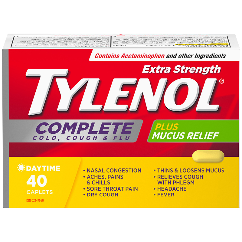 Tylenol* Complete Extra-Strength Cold, Cough & Flu Caplets - 40's