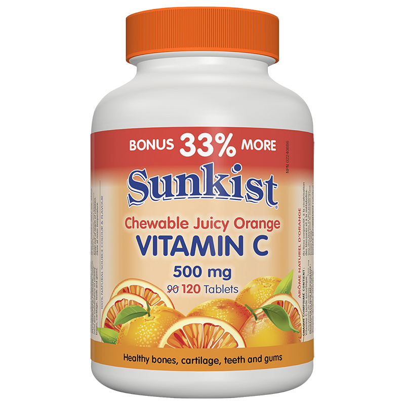 Sunkist Vitamin C 500mg - Orange - 90's