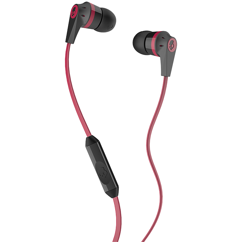 Skullcandy Ink'd 2.0 Earphones with Mic - Black/Red - SCS2IKDY010