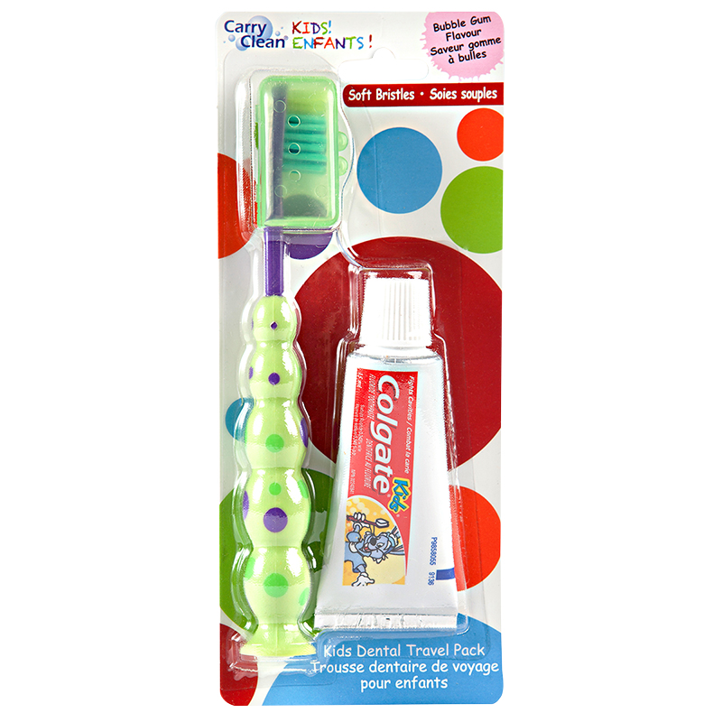 Carry Clean Kids Dental Travel Pack - Bubble Gum