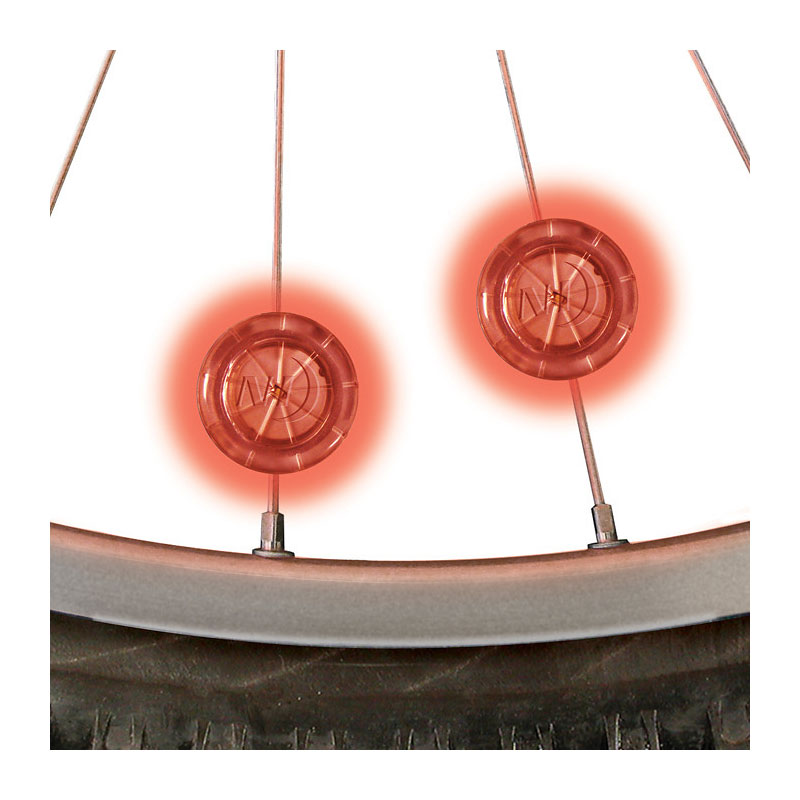 NITE IZE See'Em Spoke Lights - Red - 2 pack