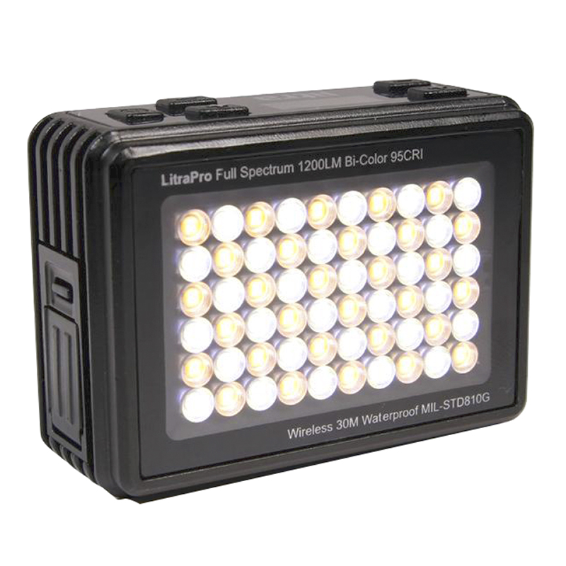 LitraPro LED Photo Light - Black - LP1200