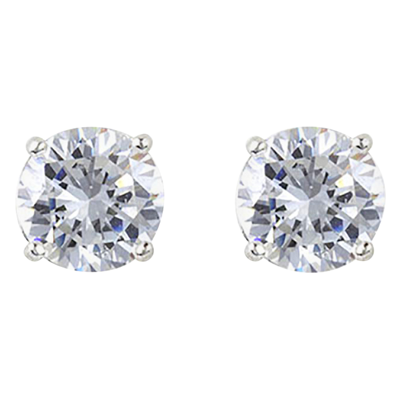Charisma Sterling Silver Charisma Cubic Zirconia Stud Earrings