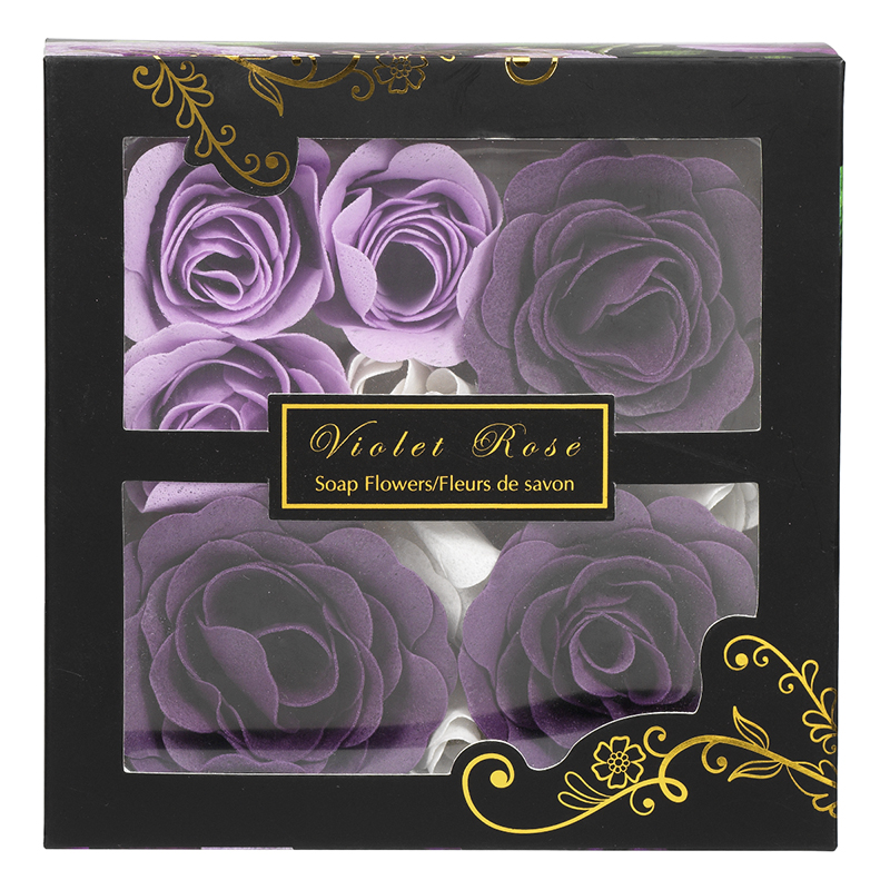 Violet Rose Soap Flowers - 52g