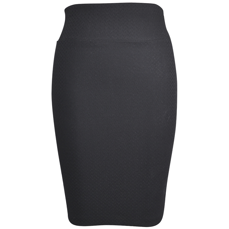 Lava Knit Pencil Skirt - Blue