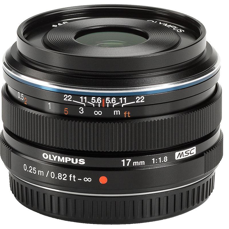 Olympus M Zuiko 17mm f1 8 - Black - 311050BU000