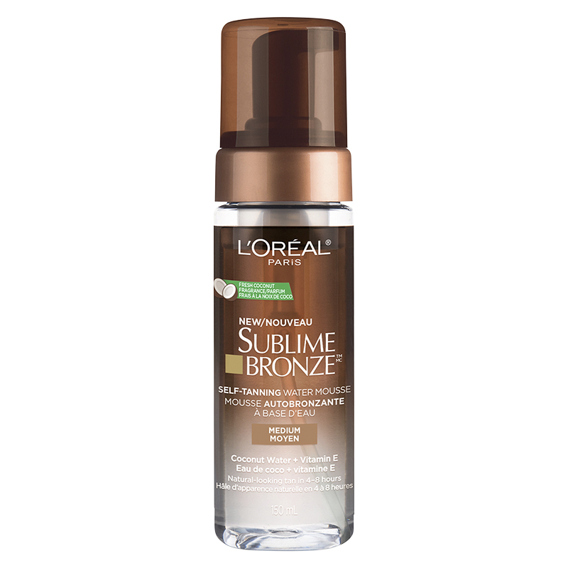 L'Oreal Sublime Bronze Self-Tanning Water Mousse - Medium - 150ml
